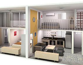 3D model Double Compact Apartment