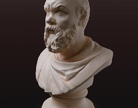 sculptures Socrates figurine for 3D printing