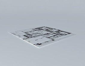 Architectural blueprint 3D