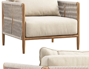 Brown Jordan Maldives Lounge Chair 3D model pillow