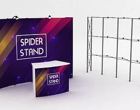 decoration 3D Pop Up Display Spider Stand