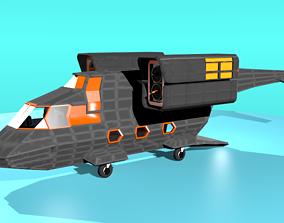 3D asset FC-17 Fictional Aircraft