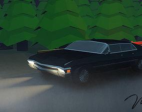 Low poly Chevrolet Impala 1967 3D print model