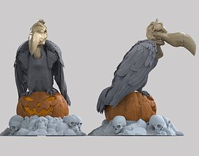 3D printable model vulture lantern figurine on Halloween