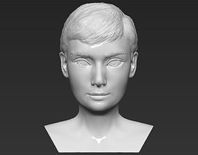 Audrey Hepburn bust 3D printing ready stl obj
