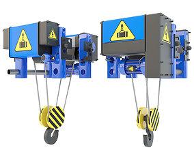 Electric crane hoist 3D model