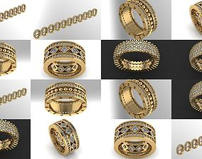 3D model wedding rings series with all lengths
