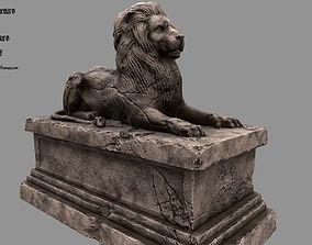 Lion Statue 10 3D model