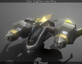 Lowpoly Star Fighter 3D asset