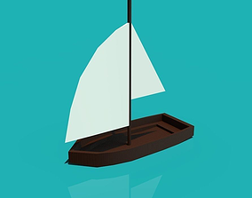 3D asset A boat