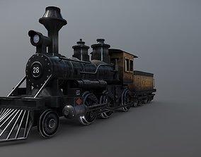 Train 3D model low-poly
