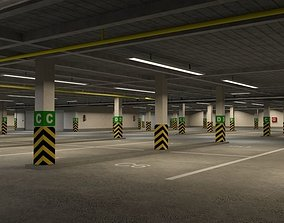 3D model Underground parking garage 01