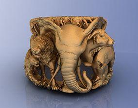 3D printable model Elephant Ring Africa Savannah
