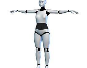 game-ready 3D Cyborg Robot Girl Female Bot model