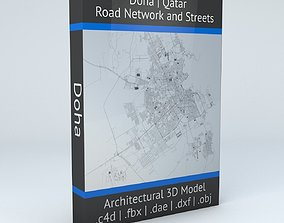 Doha Road Network and Streets 3D model