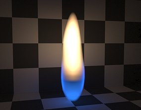animated procedural 3D Candle Flame