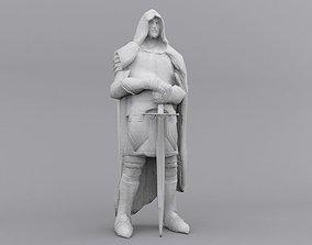 Warrior Statue Lowpoly 3D asset