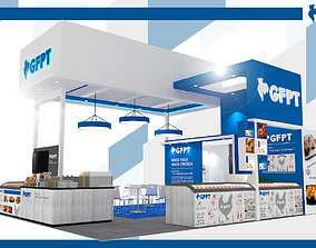 Booth GFPT design size 9 x 6 m 54 sqm 3D model