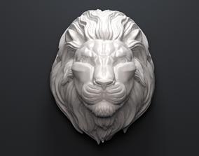 Lion Head Sculpture 3D printable model