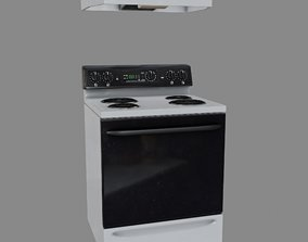 Stove with Hood 3D asset