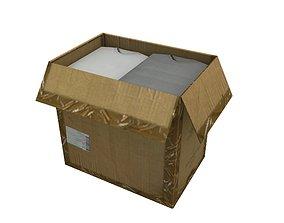Cardboard Boxes 02 3D asset