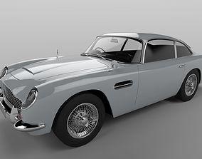 Aston Martin DB5 1963 sports car from James Bond 3D