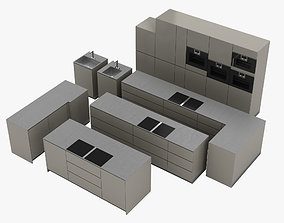 3D model Kitchen Modular