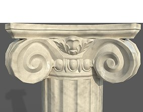 Ionic column 3D asset low-poly