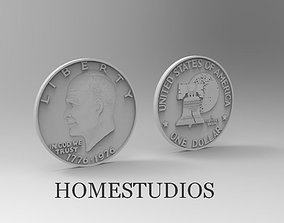 3D printable model ONE DOLLAR Eisenhower 1776 - 1976 for 1