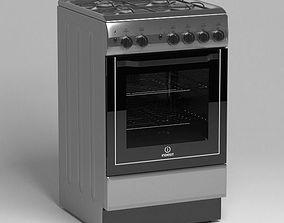 gas stove indesit 3D