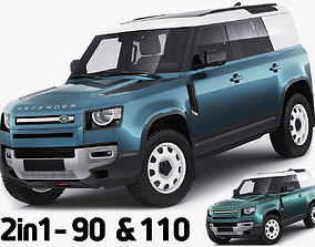 Land Rover Defender Hard Top 110 and 90 3D model