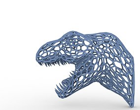 3D printable model Dinosaur wall mount tyrannosaurus rex