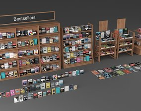 3D model Books and magazines or journals collection -