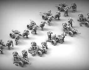 Feudal guard Heavy Weapons teams 3D print model