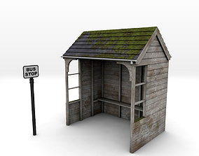 Rural Bus Shelter 3D