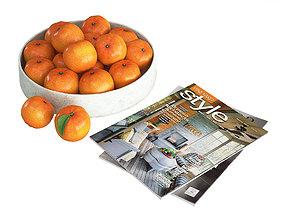 Fruit Bowl Mandarins 3D model