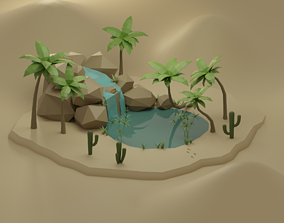 3D model Oasis - Low Poly