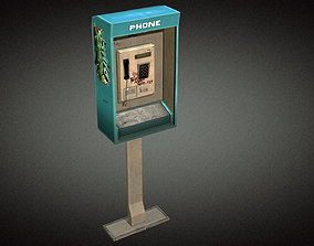 3D model Phonebooth 01