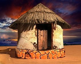 3D model old african house