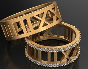 TIFFANY ATLAS WEDDING DIAMOND RINGS 3D printable model