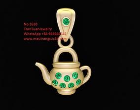 3D printable model 1618 Diamond Kettle Pendant