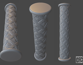 Goth shaft - 3d model for CNC - GothShaftCFC04 woodcarving