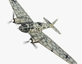 Heinkel He 111 J 3D model animated