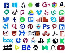 Social Media Logo Collection 53 models 3D