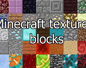 3D asset Minecraft texture blocks