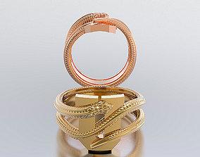 3D print model letter snake rings picture-frame