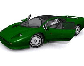 3D asset Jaguar XJ220