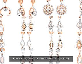 40 Drops Earrings 3dm renders detail Bulk Collection