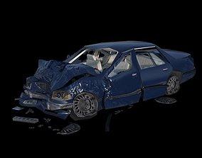 3D asset Crashed Car