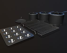 Kitchen Assets - Pots Pans etc 3D model